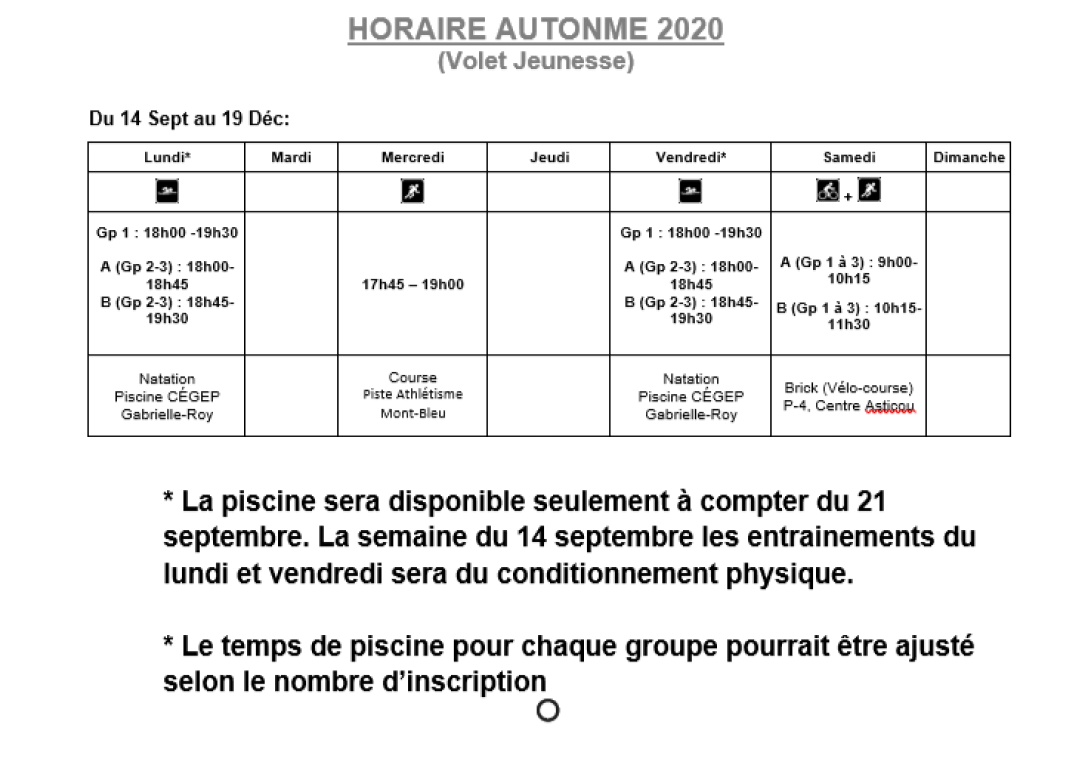 calendrier automne 2020